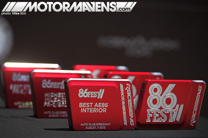 86FEST trophies awards Racesend ScionFRS FRS Toyota 86 Subaru BRZ AE86 Festival Corolla GT86 AutoClub Speedway Fontana Speedventures