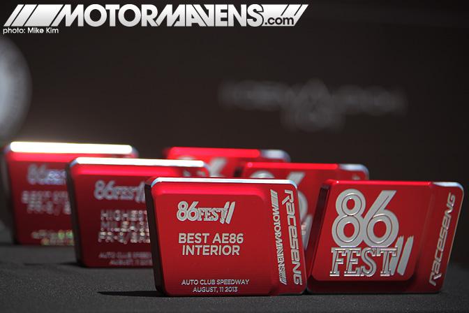 86FEST trophies awards Racesend ScionFRS FRS Toyota 86 Subaru BRZ AE86 Festival Corolla GT86 AutoClub Speedway Fontana Speedventures