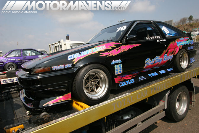 artchis, ae86, corolla, trueno, run free, sugo raceway, d1gp, cipher garage