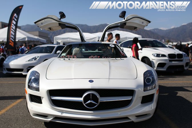 Mercedes SLS AMG Autocon Coverage Santa Anita Racetrack