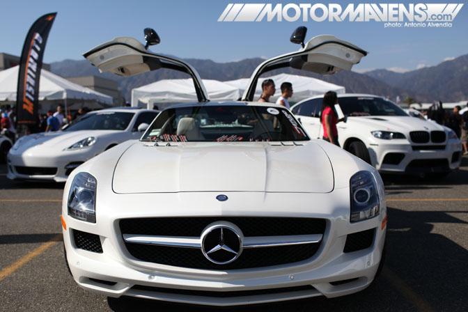 Mercedes SLS AMG Autocon Coverage Santa Anita Racetrack
