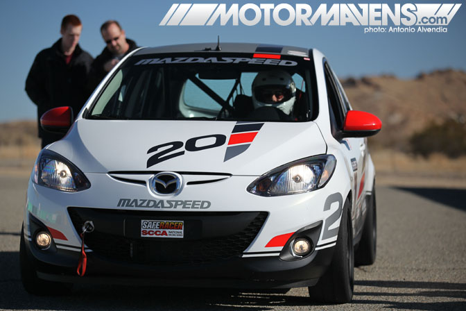 Bspec B-Spec Honda Fit Mazda 2 series Willow Springs scca BFGoodrich R1 5Zigen FN01RC Bilstein Hawk dean case TE McHale