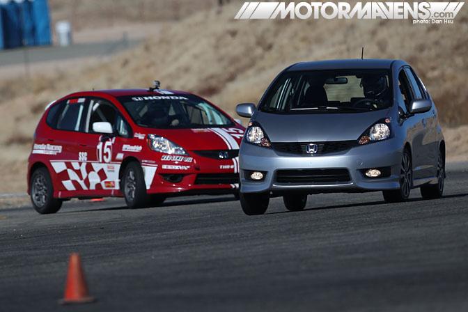 Bspec B-Spec Honda Fit Mazda 2 series Willow Springs scca BFGoodrich R1 5Zigen FN01RC Bilstein Hawk dean case TE McHale