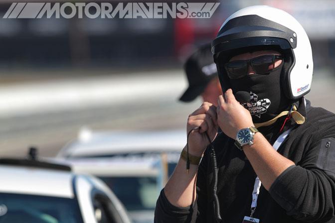 Antonio Alvendia helmet BFG BF Goodrich Rival Tire Test Tire Rack New Orleans Nola Motorsports Park