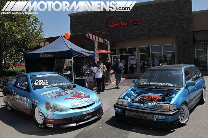 Qdoba Mexican Grill Ontario Bisimoto drag Honda Insight Civic Wagovan Bisi Ezerioha