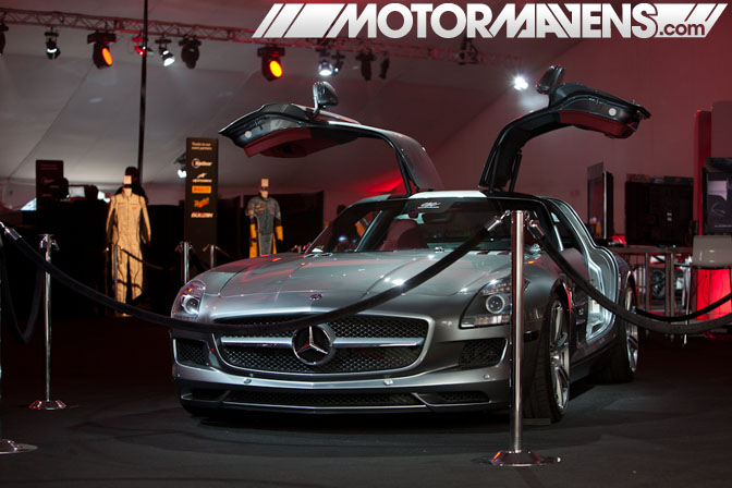 Mercedes SLS AMG Forza Motorsport 4 Video Game Experience debut Turn 10 Studios Top Gear USA launch party LA Live E3 2011 ID Agency