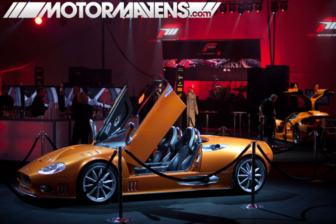 Forza Motorsport 4 Video Game Experience debut Turn 10 Studios Top Gear USA Spyker Lamborghini Camaro GTR Bentley Mercedes launch party LA Live E3 2011 ID Agency