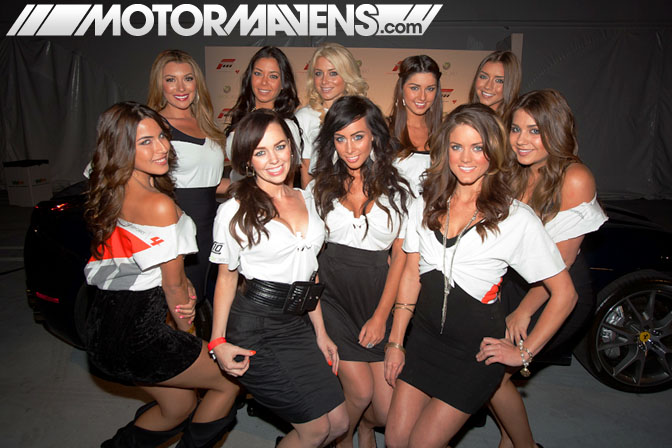 MJ Castillo Lindsey Harrod Elizabeth Ashley Thai Marie Cali Forza Motorsport 4 Video Game Experience debut Turn 10 Studios Top Gear USA launch party LA Live E3 2011 ID Agency