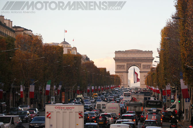 Arc de Triomphe de l'Étoile Paris France Champs-Elysées Champs Elysees showroom flagship store