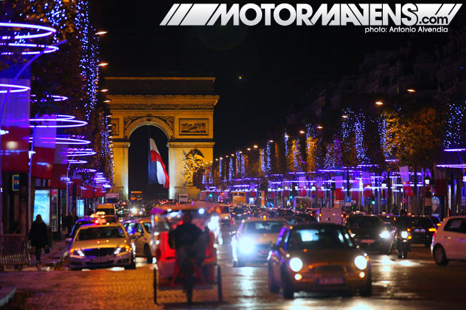 arc de triomphe Le Rendez-Vous Toyota rendezvous Paris France Champs-Elysées Champs Elysees showroom flagship store