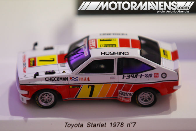 die cast KP47 Starlet Kyosho Minichamps Epoch Mtech Ebbro Diapet 1/43 Le Rendez-Vous Toyota rendezvous Paris France Champs-Elyses Champs Elysees showroom flagship store