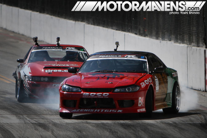 Daijiro Yoshihara Ross Petty Garage Boso Discount Tire Formula Drift Streets of Long Beach 2011