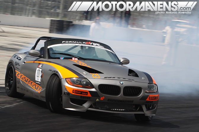 Mike Essa BMW Z4 roadster Formula Drift Streets of Long Beach 2011