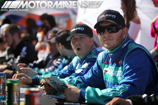 Justin Pawlak JTP Tyler McQuarrie Falken Mustang 350Z roadster Formula Drift Streets of Long Beach 2011
