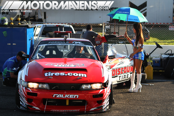 Formula Drift Seattle Evergreen Speedway 2011 drifting pit stop grid
