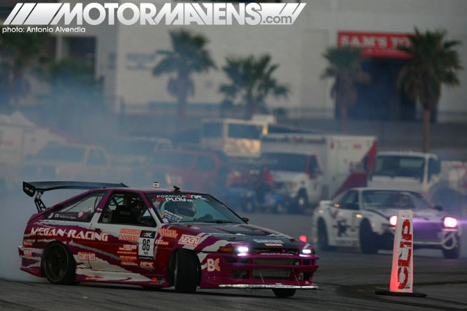 Taka Aono 2AZ Powered AE86 Megan Racing Formula Drift Las Vegas Motor Speedway After Dark