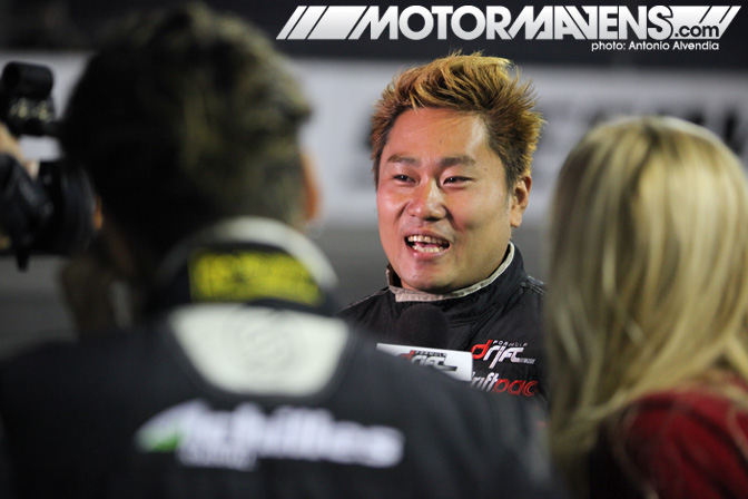 Daigo Saito series champion Achilles Tire M7 Japan FNATZ Drive Bridges Racing Garrett Turbo Spec Clutch Sparco HPS BC Formula Drift Championship Finale Irwindale Speedway drifting COURTNEY DAY