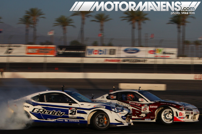 Ken Gushi GReddy Scion FR-S FRS Toshiki Yoshioka RSR S15 Nissan Silvia RS-R Formula Drift Championship Finale Irwindale Speedway drifting
