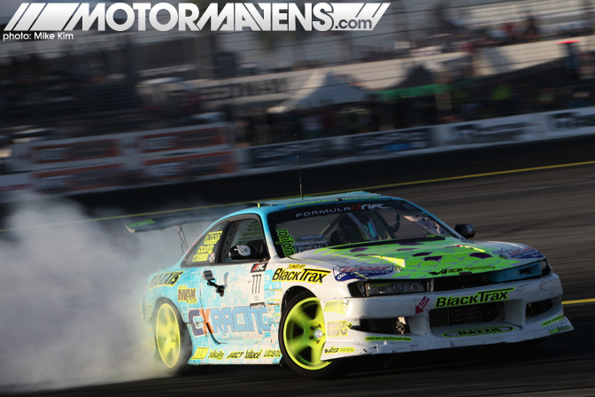 Matt Field S14 Blacktrax rotiform Formula Drift Championship Finale Irwindale Speedway drifting