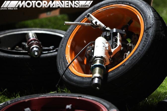 Rhys Millen Hyundai Genesis broken suspension Formula Drift Championship Finale Irwindale Speedway drifting