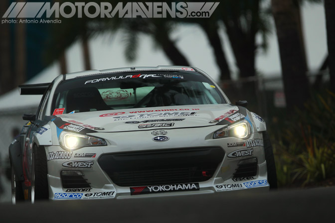 Toshiki Yoshioka Subaru BRZ Formula Drift Streets of Long Beach LBGP Grand Prix drifting