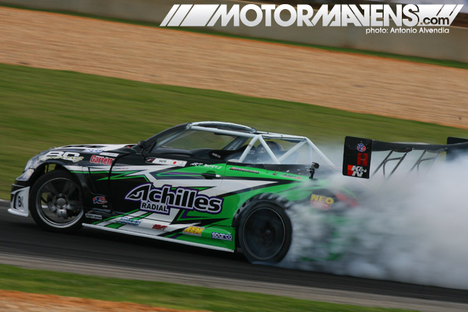 Daigo Saito Achilles Tire AEM Infinity ECU Wins Formula Drift Road Atlanta Bridges Racing