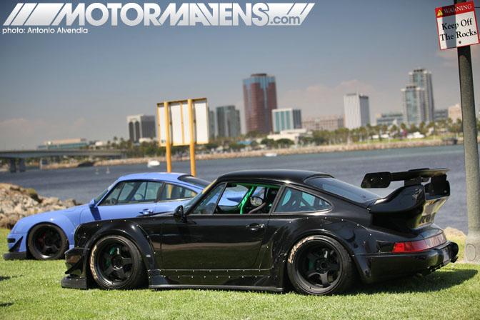RWB Rauh Welt Porsche 911 993 Infamous Hellaflush Canibeat Fatlace Illest Hella Flush Long Beach Queen Mary