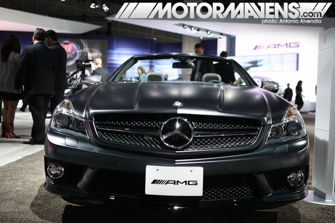 Mercedes Benz SL63 flat black LA Auto Show 2010 electric car