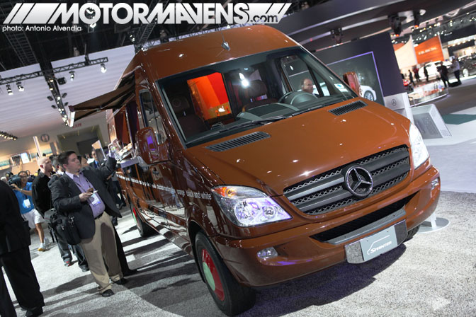 Mercedes Benz Sprinkles Cupcakes Sprinter Van LA Auto Show 2010 electric car