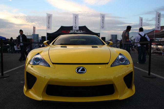 Lexus LFA Irwindale MotorMavens Mass Appeal Car Show Ken Block Invitational Gymkhana Grid