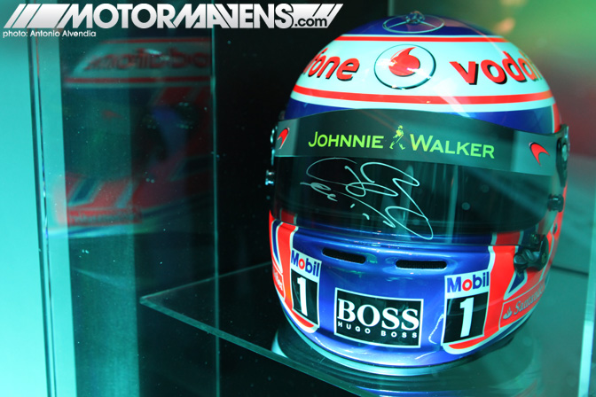 McLaren Beverly Hills Wilshire Lewis Hamilton Fernando Alonso helmet