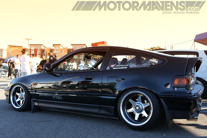 Mainstream Productions Nisei Showoff Import Car Show Little Tokyo Los Angeles Ken Miyoshi offset stance slammed shakotan