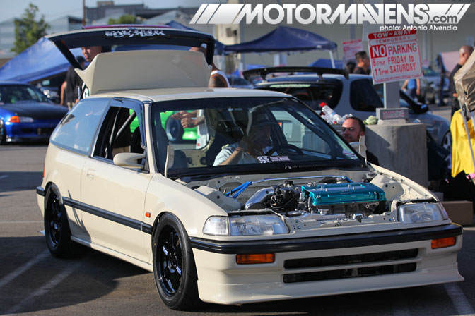 EF9 Civic Volk TE37 ATS Garage Nisei Showoff Little Tokyo Los Angeles JDM Import Car Show Ken Miyoshi Mainstream Productions