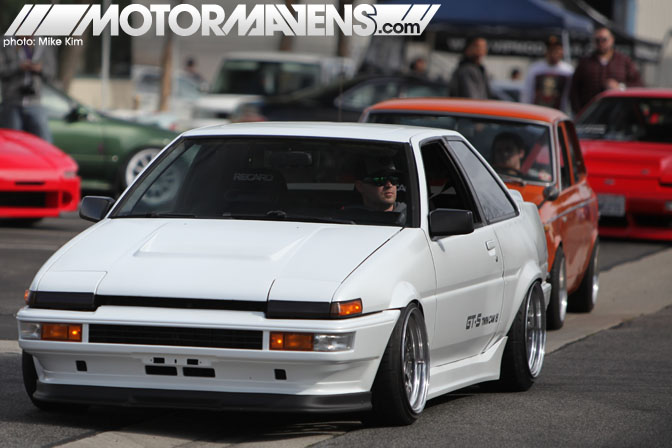 Mickey Andrade HRE wheels AE86 Corolla F20C JSPfab So You Think You Can Stance ItsJDMYo Canibeat Fatlace Hellaflush MotorMavens competition Stanceworks car show meet