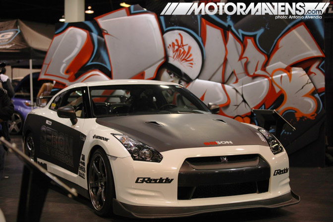 SpoCom Tour 2011 Anaheim Convention Center Greddy Nissan GTR Graffiti SEIBON Carbon