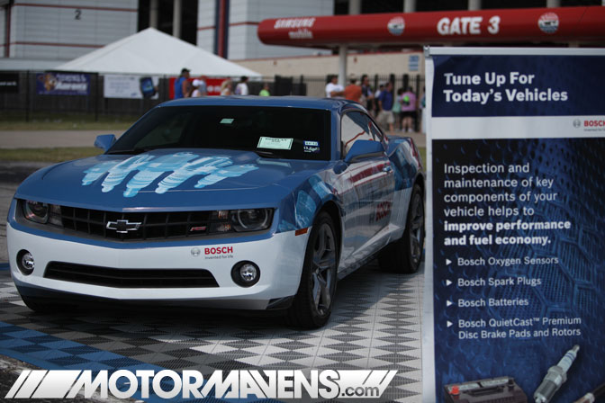 Bosch Camaro Traffik Tour Dallas Texas Motor Speedway Ultimate Drifting Formula Drift demo Hozman Group Indy IRL