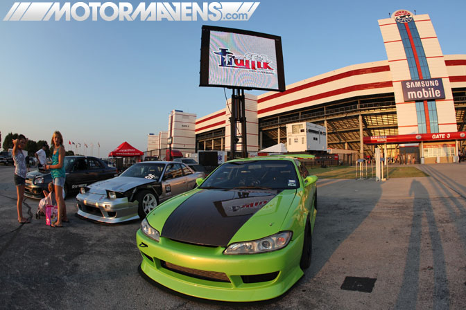 S15 S14 Traffik Tour Dallas Texas Motor Speedway Ultimate Drifting Formula Drift demo Hozman Group Indy IRL