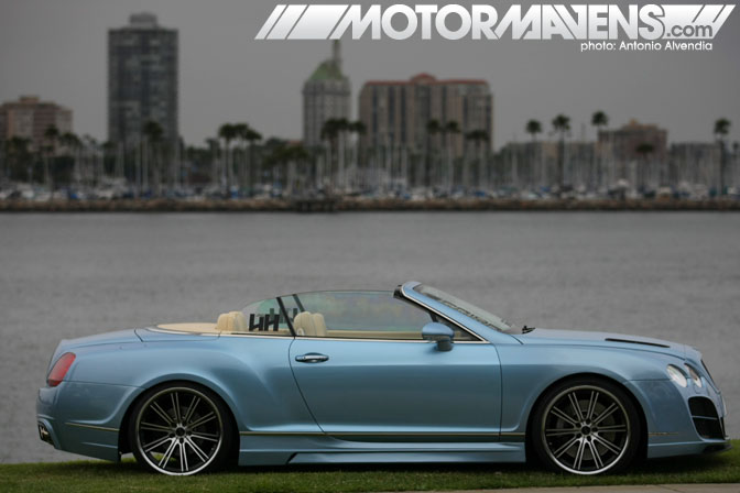Bentley Continental GT Wekfest Los Angeles Long Beach Queen Mary Weksos Hellaflush Slammed Society