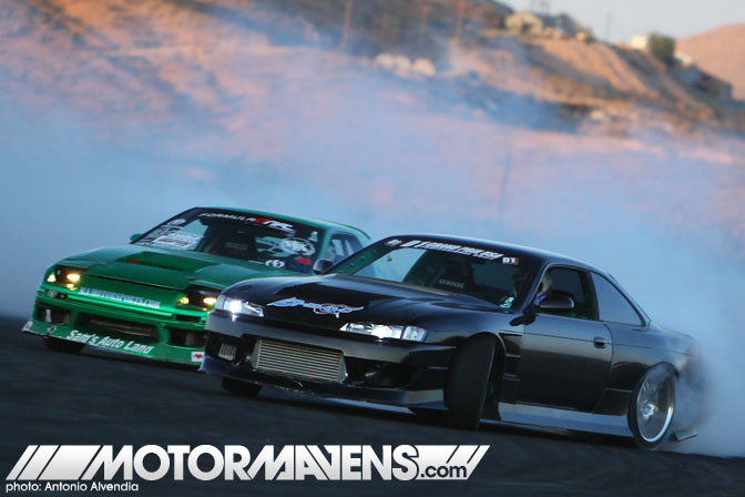 Justin Pawlak FC3S RX7 Forrest Wang S14 tandem Just Drift All Star Bash drifting festival