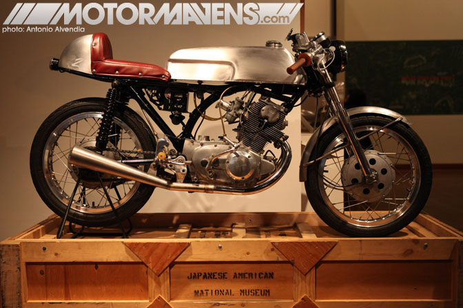 Zen Garage 1961 Honda CB77 Superhawk Len Higa motorcycle cafe racer Japanese American National Museum