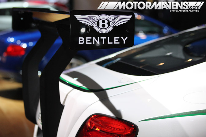 Bentley Continental GT3 supercar race car LA Auto Show Autoshow 2012