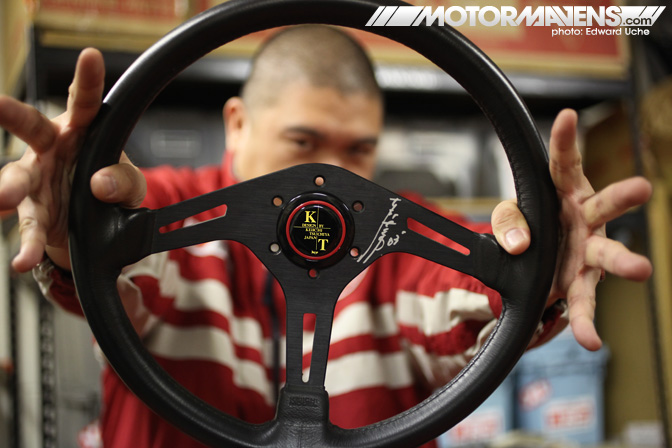 keiichi, tsuchiya, keii office, steering wheel, kt design, kt planning, cipher garage, AE86