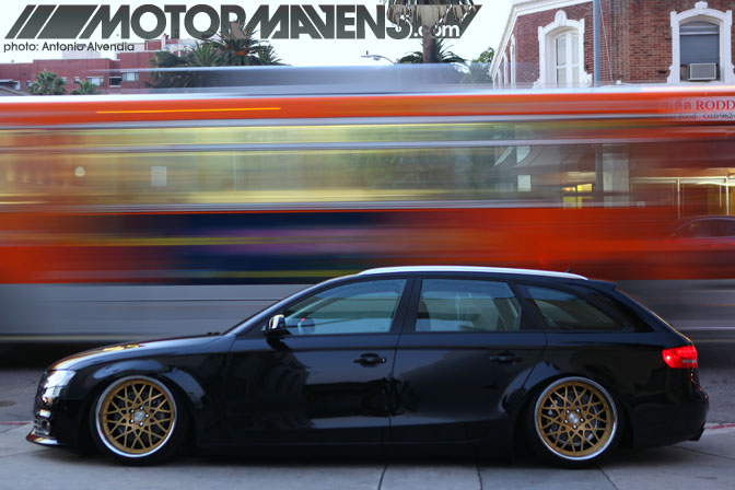 Audi A4 Avant wagon Rotiform Brian Henderson slammed offset flush stance air suspension