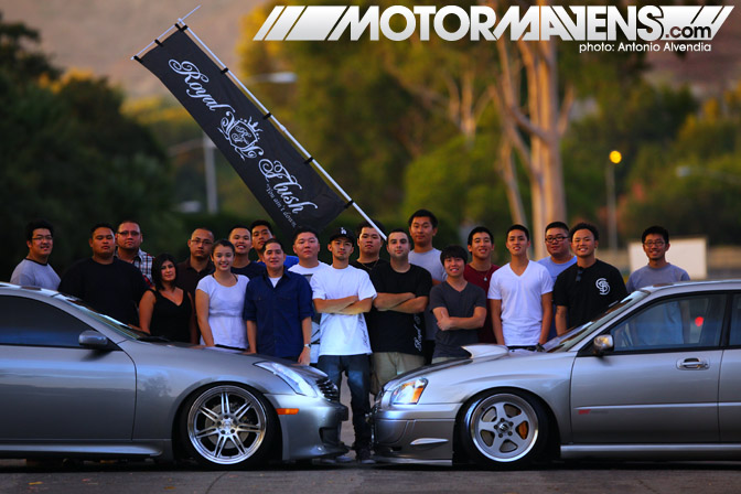 Royal Flush San Gabriel Valley Hella offset stance stanceworks slammed crew