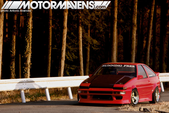 Running Free Kanagawa drift team AE86 Sprinter Trueno Yamashita Koichi Run Free D1GP Antonio Alvendia Cipher Garage