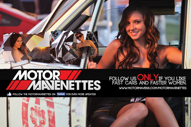 MotorMavenettes Tailyr Monette Motor Mavens umbrella girl girls model models import race queen