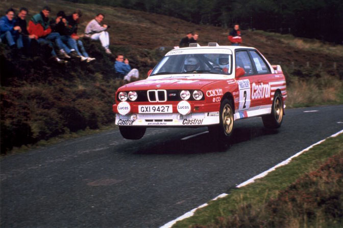 Patrick Snijers Prodrive BMW E30 M3 Manx Rally Isle of Man 1988 Castrol Snyers