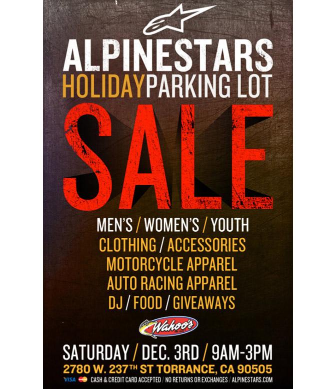 Alpinestars Holiday Parking Lot Sale Torrance CA