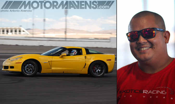 Exotics Racing Corvette Z06 ride along MikeBomac drifting Mike Bolanos Just Drift