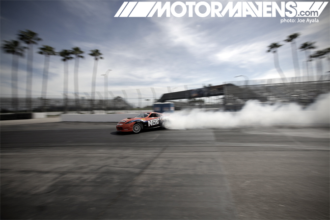 Chris Forsberg 370Z Nos Energy Drink hardtop Formula Drift FDLB FDLBC LBC Long Beach